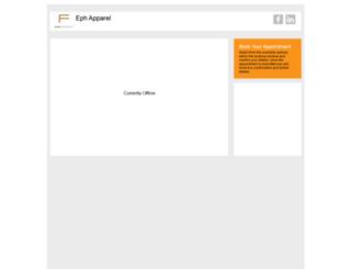 ephapparel.setster.com screenshot