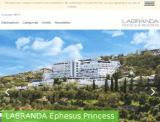 ephesusprincess.com.tr screenshot