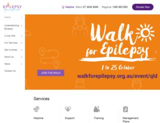 epilepsyqueensland.com.au screenshot