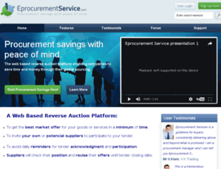 eprocurementservice.com screenshot
