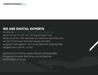 eprofessional.co.uk screenshot