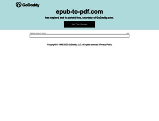 epub-to-pdf.com screenshot