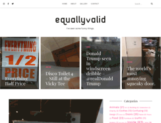 equallyvalid.com screenshot
