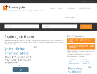 equinejobs.org screenshot