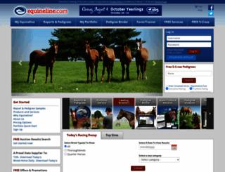 equineline.com screenshot