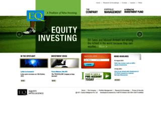equityintelligence.com screenshot