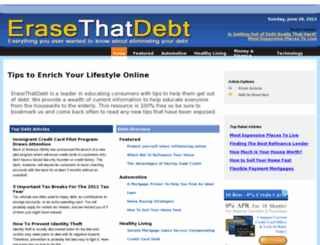 erasethatdebt.com screenshot