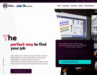 erasmusrecruitmentplatform.nl screenshot