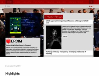ercim.eu screenshot