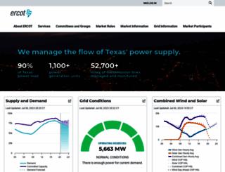 ercot.com screenshot