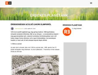 erdekesplanetank.reblog.hu screenshot