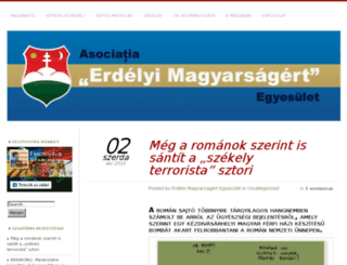 erdelyimagyar.wordpress.com screenshot