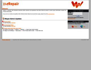 erepair.leaseplan.com screenshot