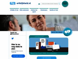 erfelijkheid.nl screenshot