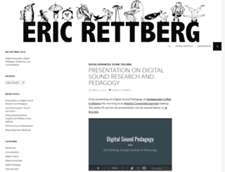 ericrettberg.com screenshot