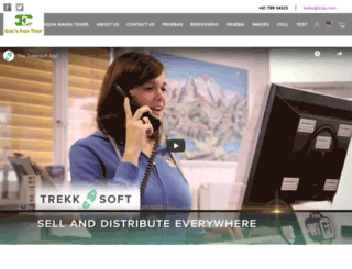 ericsfuntour.trekksoft.com screenshot