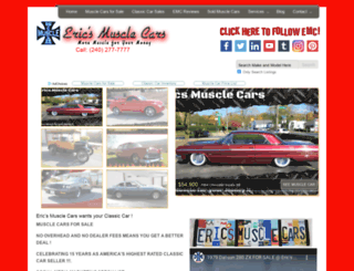 ericsmusclecars.com screenshot