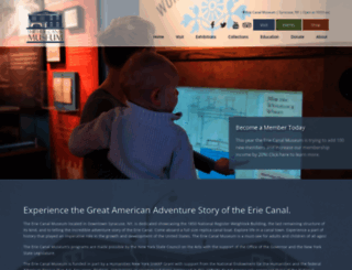 eriecanalmuseum.org screenshot
