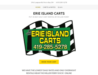 erieislandcarts.com screenshot