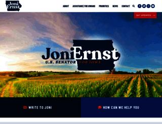 ernst.senate.gov screenshot