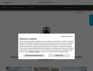 es-prensa.peugeot.com screenshot