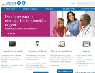 es.anthem.com screenshot