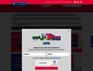 es.benadryl.com screenshot