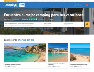 es.campings.com screenshot