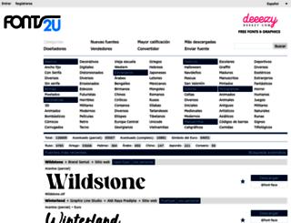 es.fonts2u.com screenshot