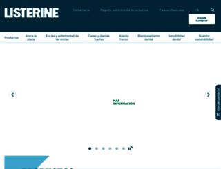 es.listerine.com screenshot