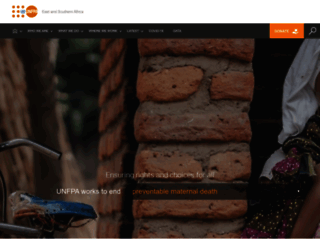 esaro.unfpa.org screenshot