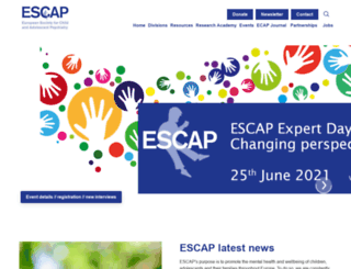 escap.eu screenshot