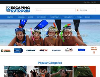 escapingoutdoors.com.au screenshot