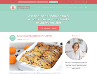 escoladebolo.com.br screenshot