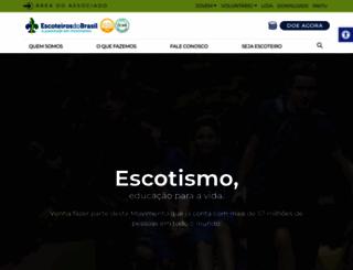 escoteiros.org.br screenshot