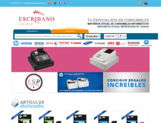 escribanolevante.es screenshot