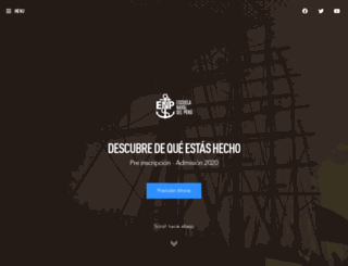 escuelanaval.edu.pe screenshot