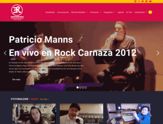escuelasderock.cl screenshot