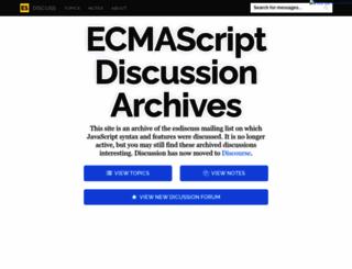 esdiscuss.org screenshot