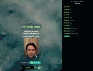 esfandi.com screenshot
