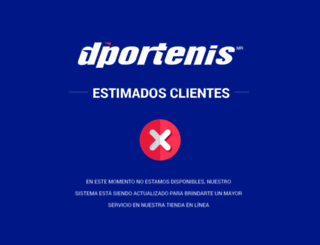 eshop.dportenis.com.mx screenshot