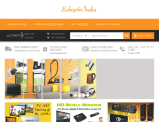 eshop4india.com screenshot