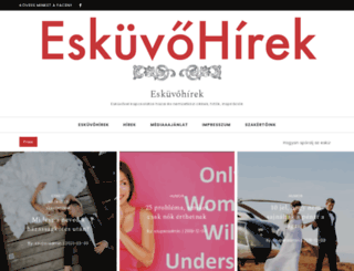 eskuvohirek.hu screenshot