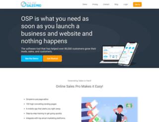 esm.onlinesalespro.com screenshot