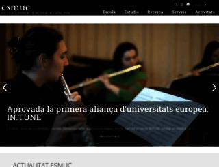 esmuc.cat screenshot