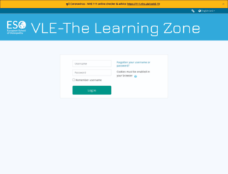 eso-learningzone.co.uk screenshot