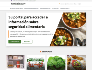 espanol.foodsafety.gov screenshot
