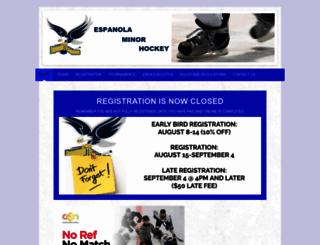 espanolaminorhockey.com screenshot
