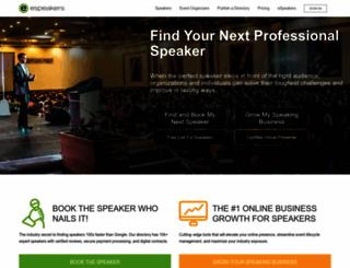 espeakers.com screenshot