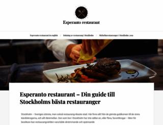 esperantorestaurant.se screenshot